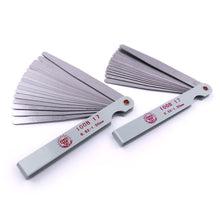Stainless Steel 100mm Length Straight Metric Feeler Gauge 17 Blade Gap Filler 0.02-1.00mm Thickness Measurement Tool