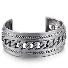 Punk Rock 28MM Wide Open Bangles & Bracelets For Men Chain Link Style Cuff Bangle Male Stainless Steel