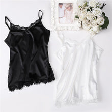 Silk Tank Women Sexy V Neck Basic Tops Blusas Casual Womens Vest Lace Camisole Crop Tops Plus Size