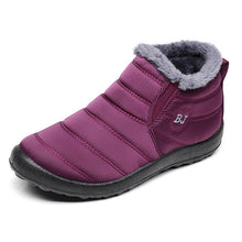Winter Shoes Solid Color Snow Boots Plush Inside Antiskid Bottom Keep Warm Waterproof Ski Boots Size 35-46