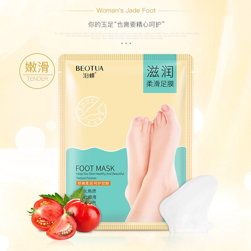 Skin Care tomato Extract Remove Foot Dead Skin Mask Foot Care Peeling Exfoliating Skin Socks Feet Care Cream