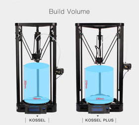Anycubic 3D Printer Pulley Version Linear Guide DIY Kit Kossel Delta Large Printing Size 3D Metal Printer