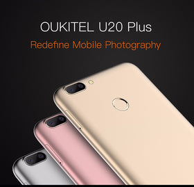 Oukitel U20 Plus Dual Camera MTK6737T 1.5GHz Quad Core 5.5 Inch FHD 2G+16G Android 6.0 4G LTE - Merimobiles