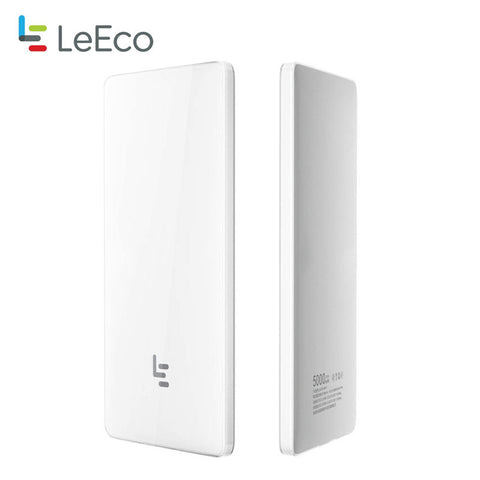 Letv Portable Ultra-thin 8.3mm USB Type C QC2.0/QC3.0 two-way Fast Charge 5000mAh Power Bank - Merimobiles