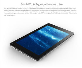 Cube iWork8 8.0 Inch 800p HD 2GB/32GB Z3735 Quad Core Dual Win+Android - Merimobiles