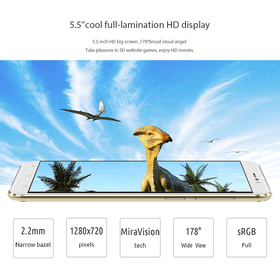Cubot Dinosaur MTK6735A 1.3GHz Quad Core 5.5 Inch 3GB/16GB ROM Android 6.0 4G LTE *EUROLINE AVAILABLE* - Merimobiles