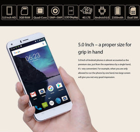 Cubot Manito MTK6737 1.3GHz Quad Core 5.0 Inch Android 6.0 3GB/16GB ROM 4G LTE *EUROLINE AVAILABLE* - Merimobiles