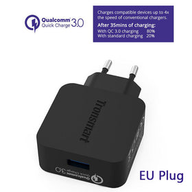 Tronsmart WC1T USB Charger with Type-C /Micro USB Cable Quick Charge 3 - Merimobiles