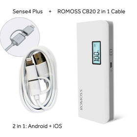 ROMOSS Sense4/ Sense4 LED/ Sense4 Plus Power Bank 10400mAh Dual USB Output Powerbank