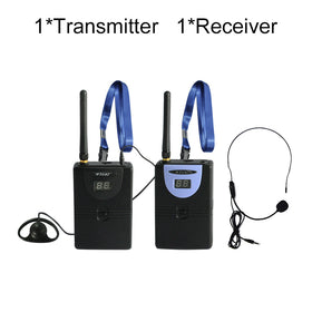 Custom Digital Wireless Tour Guide, Simultaneous Translation,2.4GHz HDCD transmission audio effect 1transmitter 1receiver - GlobalGadgetShop