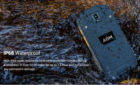 AGM A8 IP68 Waterproof Android 7.0 4050mAh 3GB 32GB ROM Qualcomm SoC Gorilla glass OTG NFC