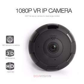 Boavision V380 HD 1920*1080P VR WIFI IP Camera 2MP,Support Max 128G TF Card,P2P,Two-Way Audio IR 360 Degree IP CAM WI-FI P2P - GlobalGadgetShop