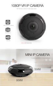 Boavision V380 HD 1920*1080P VR WIFI IP Camera 2MP,Support Max 128G TF Card,P2P,Two-Way Audio IR 360 Degree IP CAM WI-FI P2P
