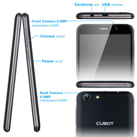 Cubot Note S 5.5inch HD Android 6.0 MTK6580 *EUROLINE AVAILABLE* - Merimobiles