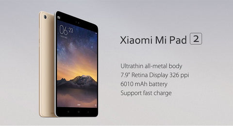 "Xiaomi Mipad 2 Windows Tablet PC 64GB ROM 7.9"" Intel Atom X5 Quad Core 2GB RAM 8.0MP 6190mAh - Merimobiles"
