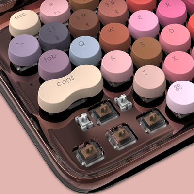 Makeup lofree keyboard Rose Gold version