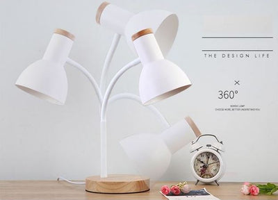 Nordic Solid Wood Table Lamp