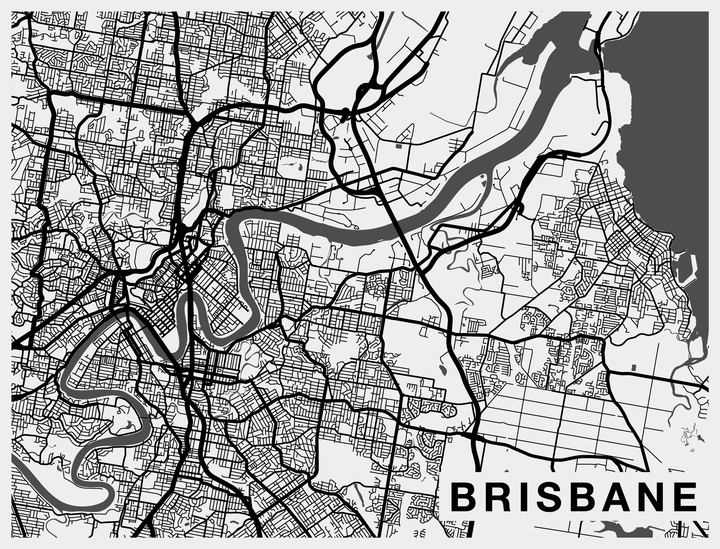 City map art murals pango ma brisbane city map wallpaper gumiabroncs Choice Image