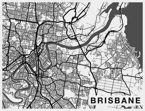 Brisbane City Map Wallpaper