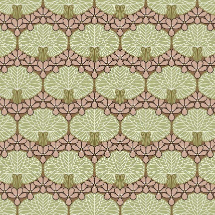 Clematis Art Deco Wallpaper or Fabric