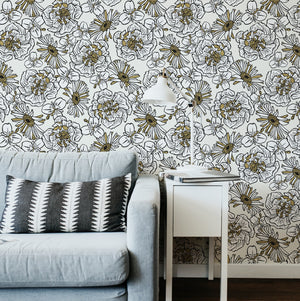 Cream and Gold Mackenzie Country Wallpaper