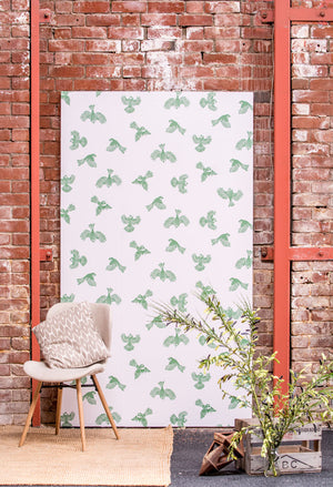 Fantail Wallpaper - Green