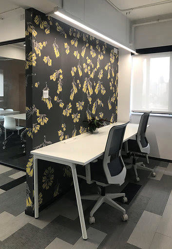 Kowhai Wallpaper - Midnight - Large Scale Print