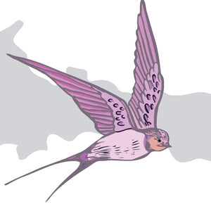 Custom Colour Lilac  _ Birds Fly Wallpaper