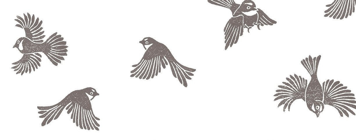 Fantail Wallpaper - Grey