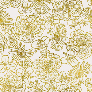 Cream/Gold Floral Wallpaper - NZ