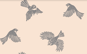 Fantail Wallpaper - Blush