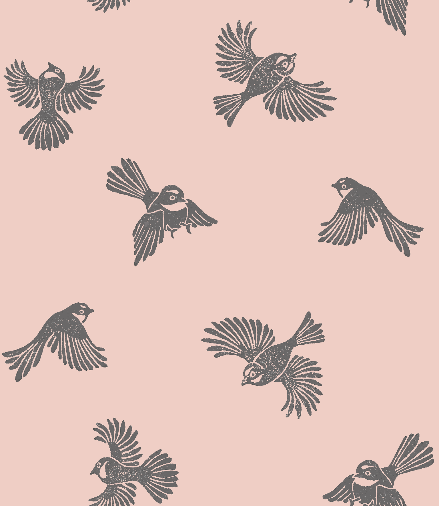 NZ Bird Wallpaper - Pink