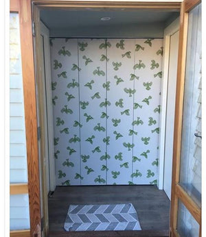 Fantail Wallpaper - Green- Customers Photo