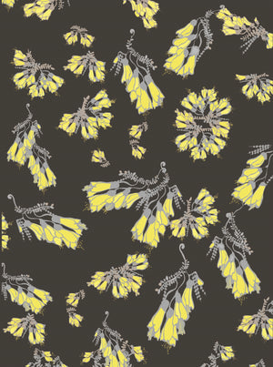 NZ Floral Wallpaper - Midnight