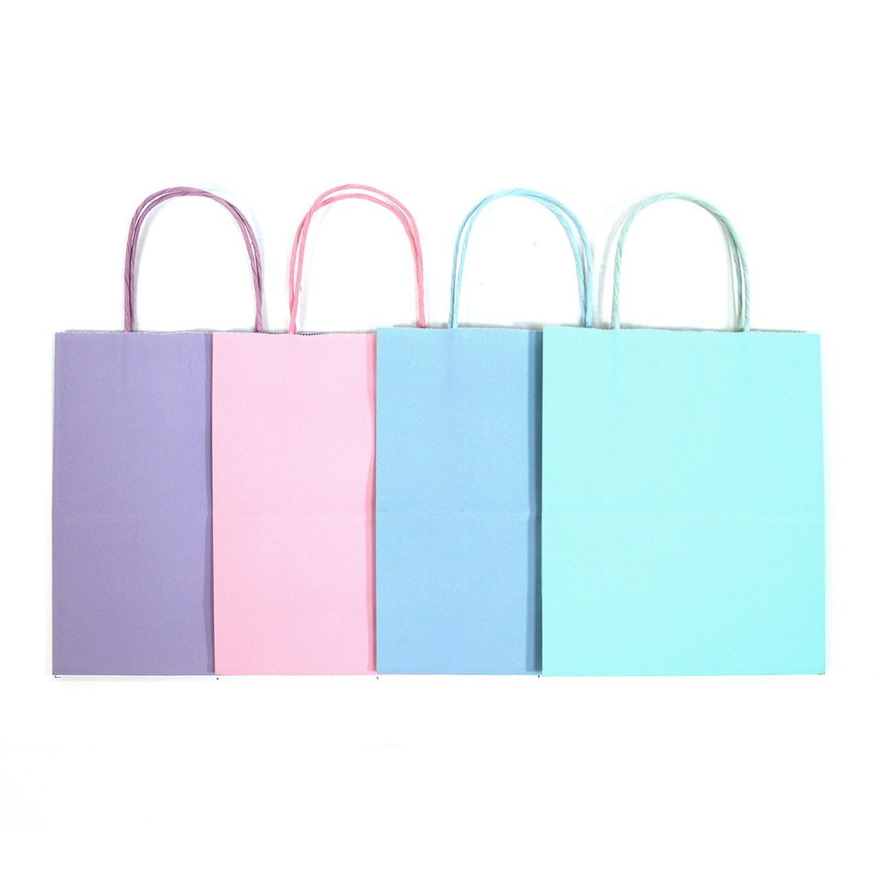 "12 pcs- Assorted Pastel Color Kraft Bags 5"" x 8.25"""