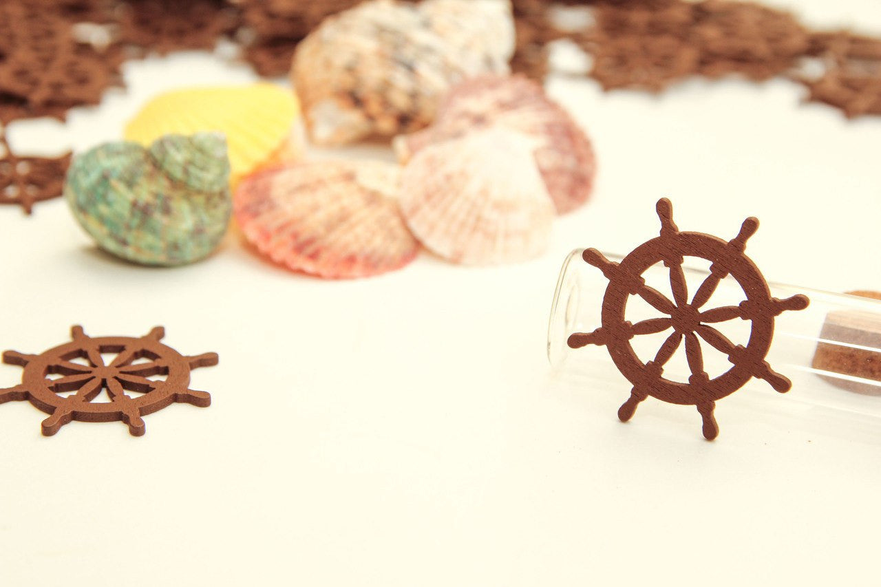 12 pcs-Mini Wooden Wheel
