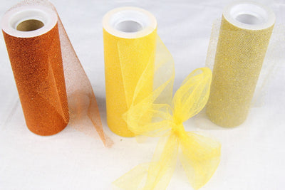 "6"" Glittered Tulle (10 Yards) - Americasfavors"