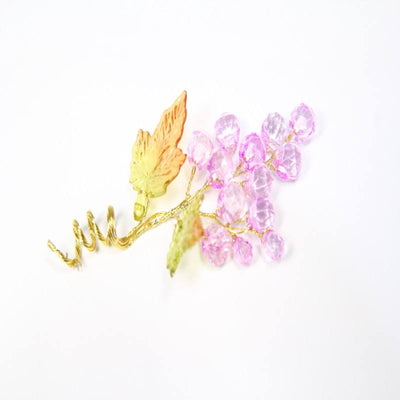 12 pcs- Acrylic Grape Floral - Americasfavors