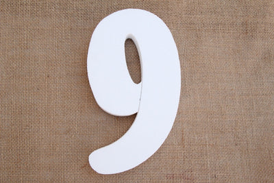 "5"" Foam Numbers (0 thru 9) - Americasfavors"