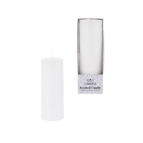 "1 pcs- 5"" Tall White Round Scented Pillar Candle"