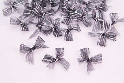 Premade Transparent Sparkling Bow (24 pieces) - Americasfavors