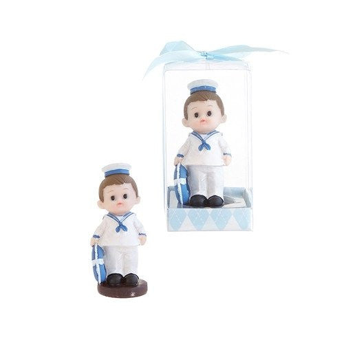 1pc- Blue Baby Sailor Poly Resin in Gift Box