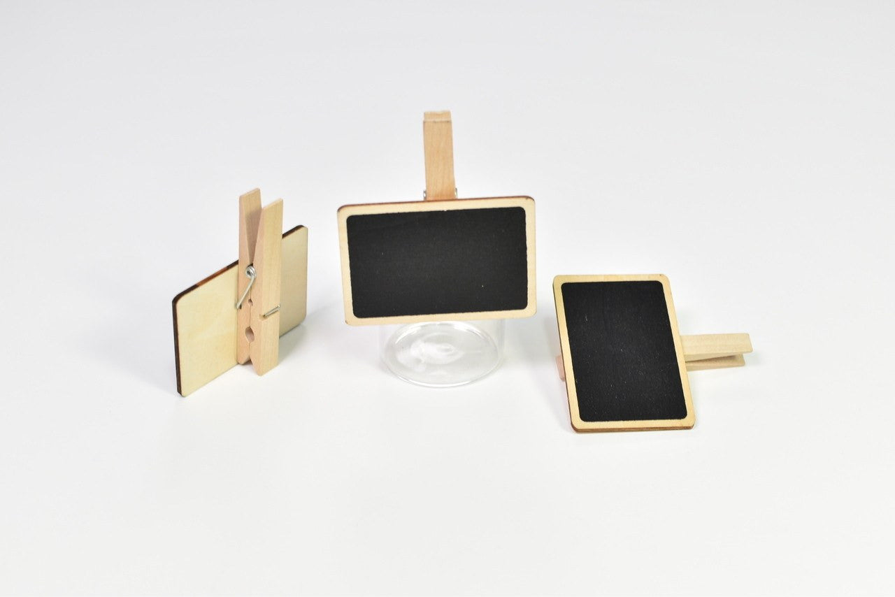3 pcs - Chalkboard with clothespin