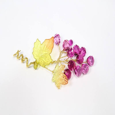 12 pcs- Acrylic Grape Floral