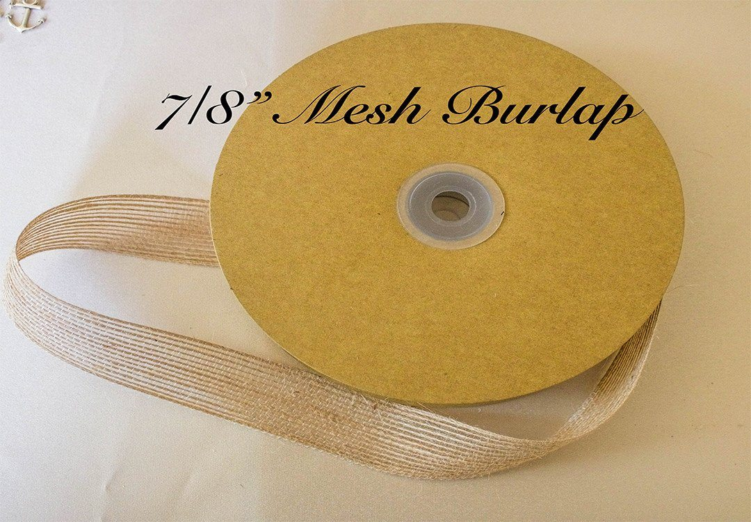 "7/8"" Burlap Ribbon (25 yards)"