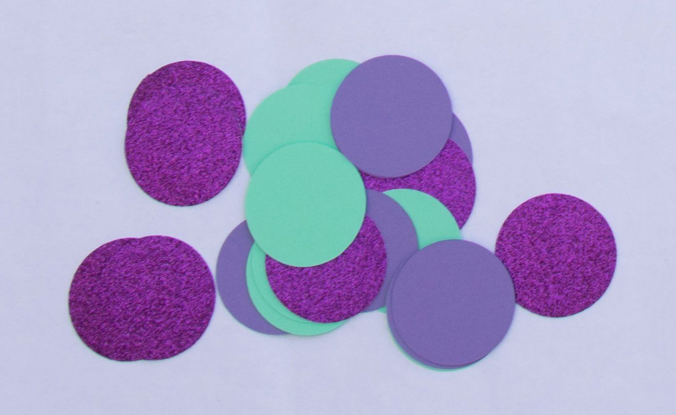 "2"" Assorted Mermaid Color Circle Diecuts (12 pieces)"