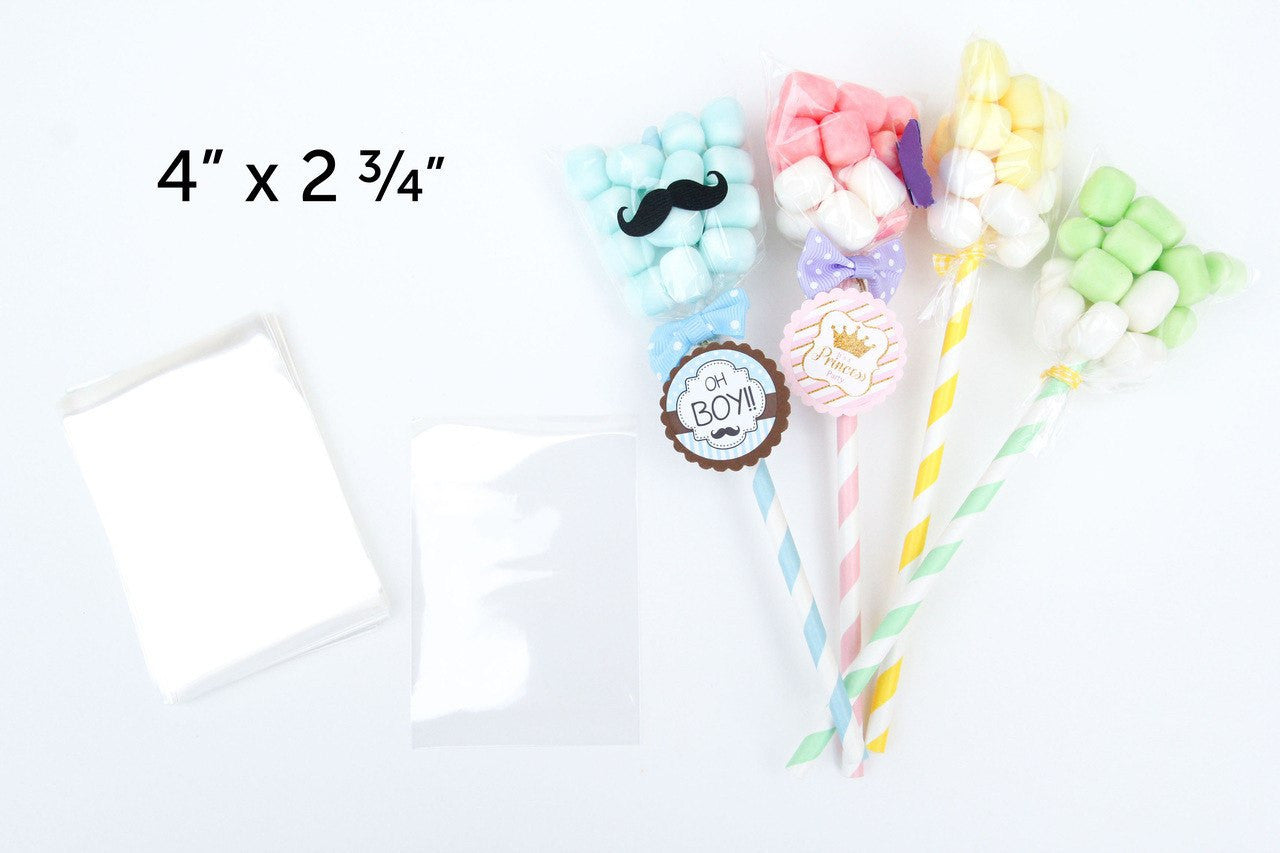 100 pcs- Clear Plastic favor bags