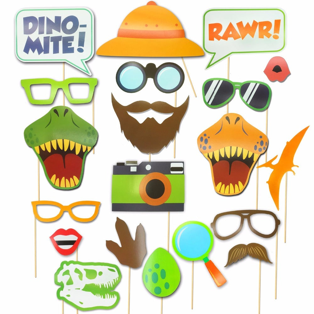 20 Dinosaur Party Photo Props