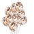 "20 Count 12"" Rose Gold Confetti Balloons Party Decorations"