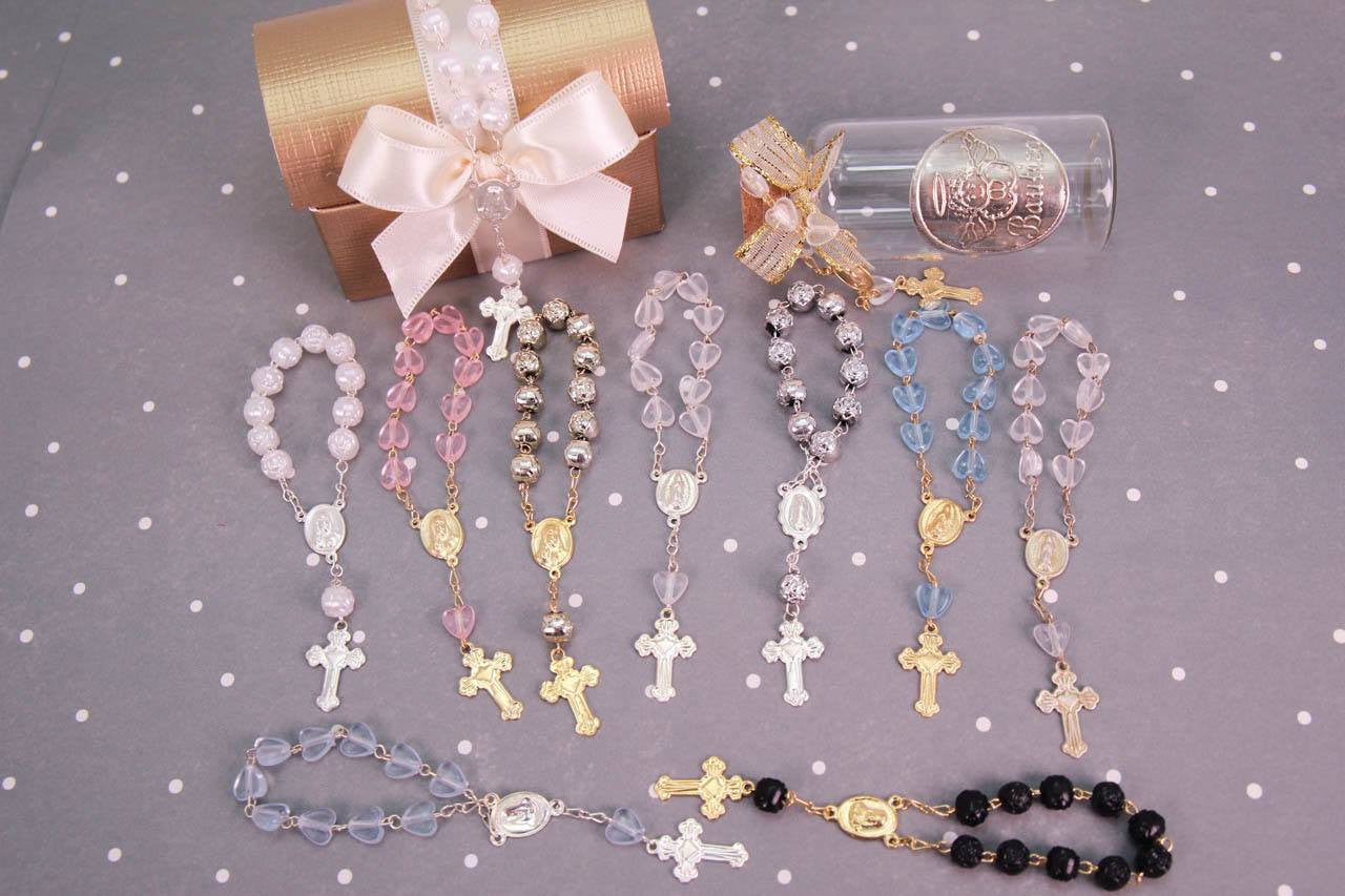 12 PCS - Mini Plastic Rosaries